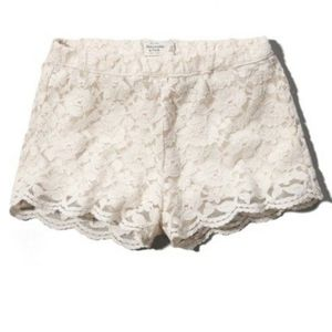 Abercrombie & Fitch White Lace Shorts